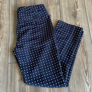 Banana Republic Navy Polka Dot Pants Size 4